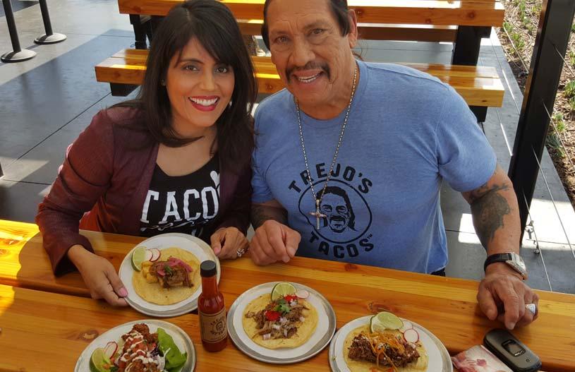 Mar Yvette with Danny Trejo at Trejo's Tacos