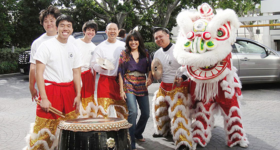 Chinese Lion Dancers + Mar
