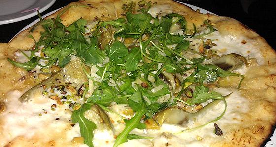 Churchill's artichoke pizza - Photo by Mar Yvette