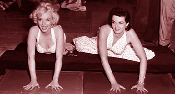 Marilyn Monroe & Jane Russell @ Grauman's Chinese Theatre