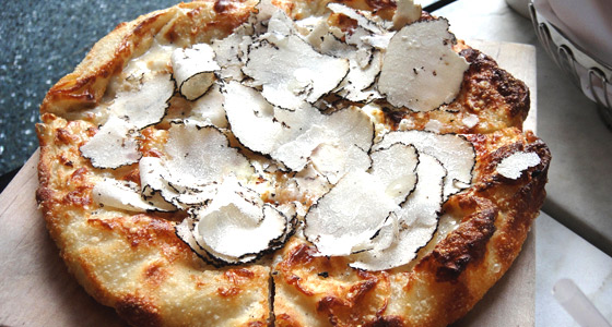 Oliverio's truffle pizza - Photo by Mar Yvette