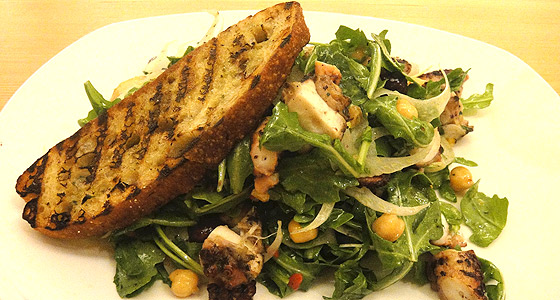 Tender Greens' octopus salad - Photo by Mar Yvette