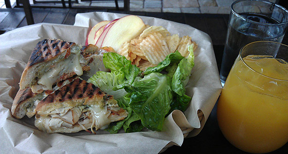 Venice Beach Wine's hot turkey panini - Photo by Mar Yvette