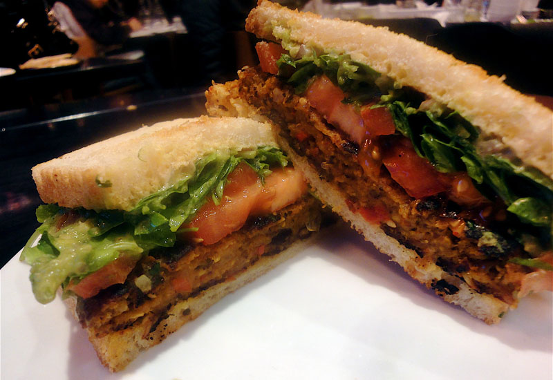 STREET's Spicy Black Bean Veggie Burger