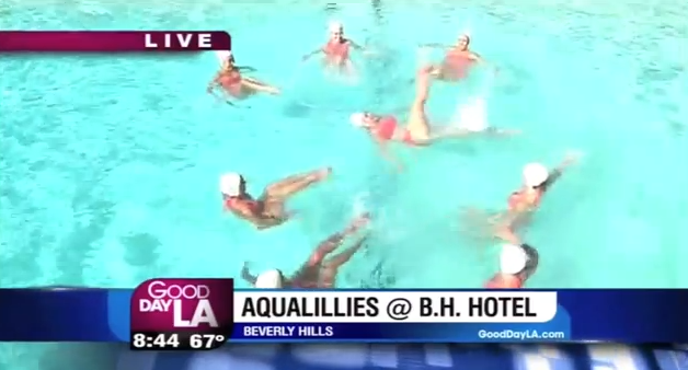 Aqualillies at the Beverly Hills Hotel