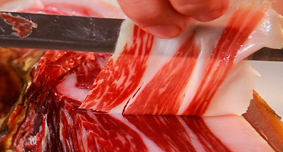 A slice of Iberico