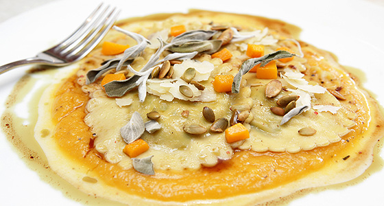 Fig & Olive's pumpkin ravioli