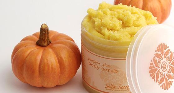 Bella Luce's pumpkin scrub
