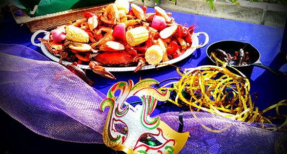 Mardi Gras eats at Uncle Darrow's - Photo by Mar Yvette