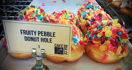 Fruity Pebble donut holes - Photo by Mar Yvette