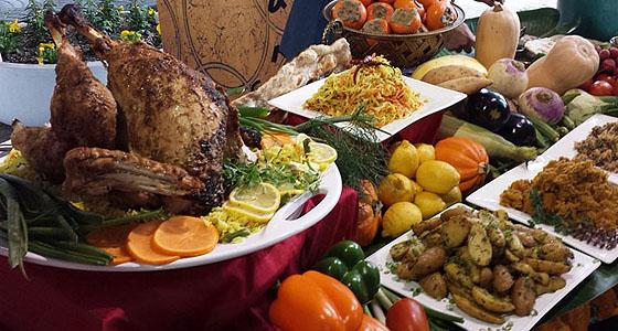 Thanksgiving feast - Photo by Mar Yvette