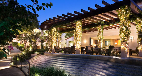 The restaurant at Sunset Marquis