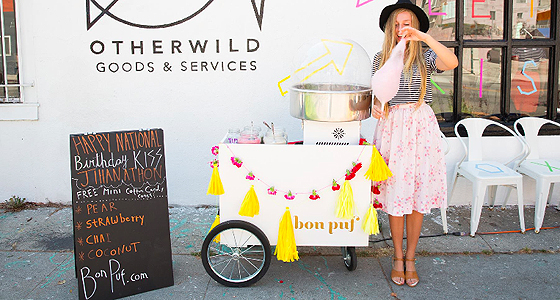 Tres adorable: Bon Puf's organic cotton candy cart
