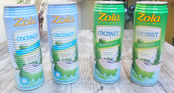 From A to Z: Zola Coconut water is my fave