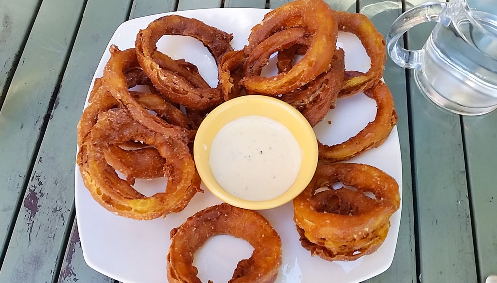 Adama's addictively good curried onion rings
