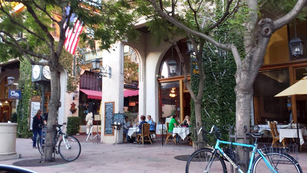 Santa Barbara's bustling State Street