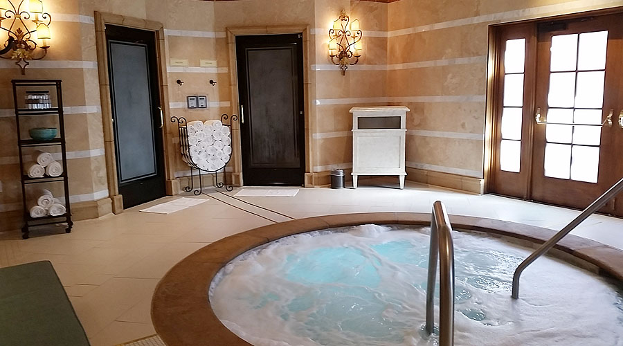 The saltwater whirlpool at Grand Del Mar