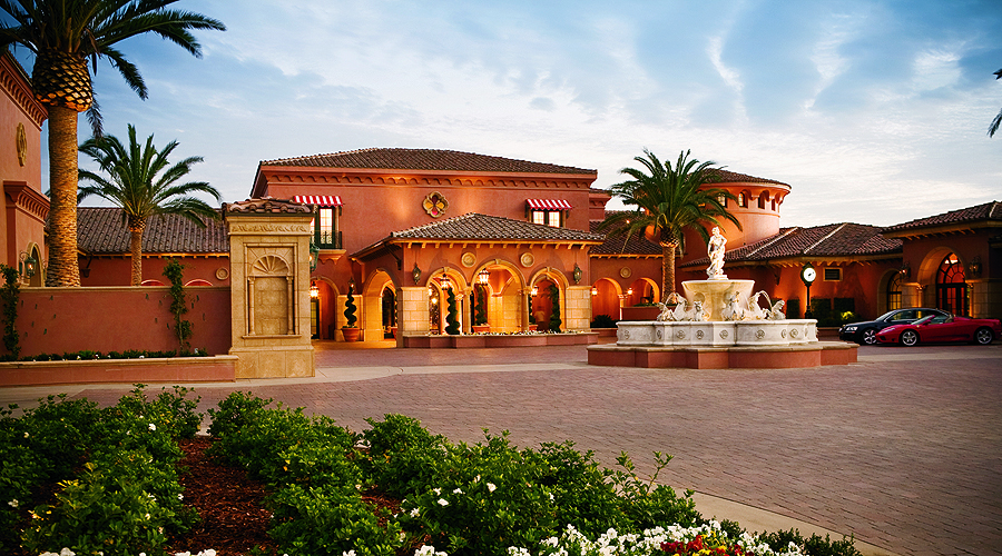 The entrance at the Grand Del Mar