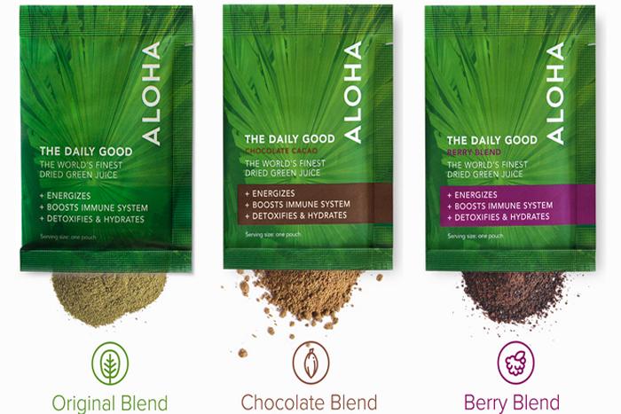 ALOHA's superfoods green packs