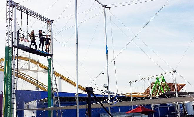 Santa Monica trapeze