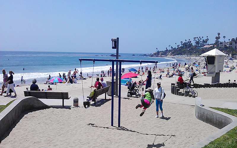 Main Beach action in Laguna
