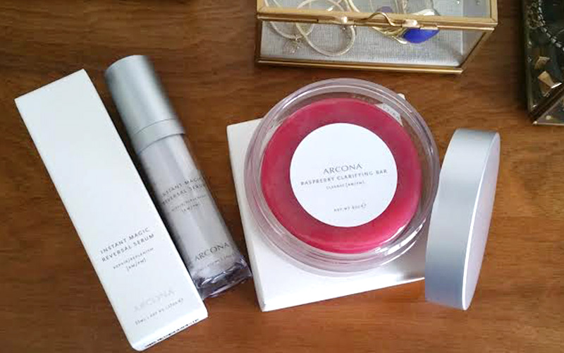 Arcona's raspberry bar and magic serum