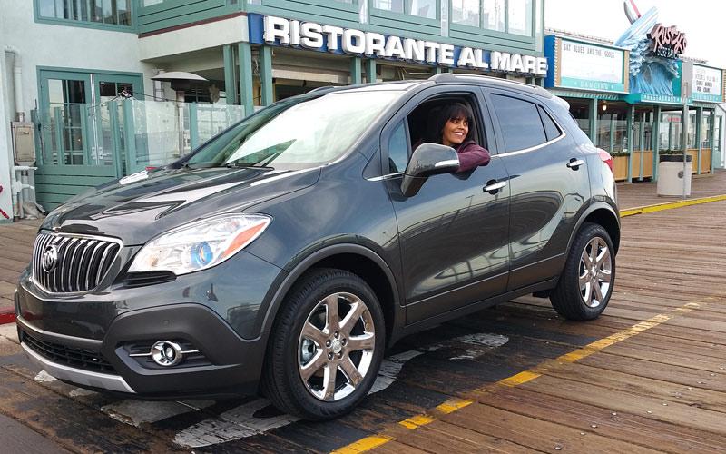 A joyful ride on the pier in the Buick Encore