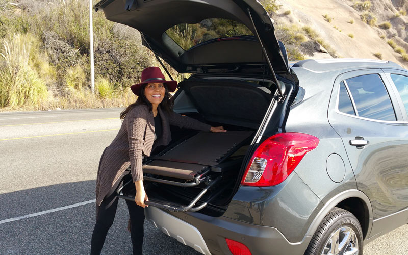 There's plenty of trunk space in the Buick Encore