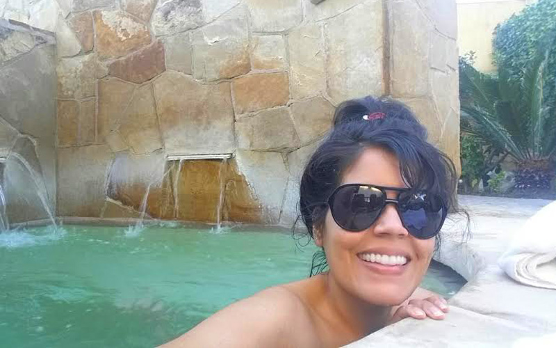 Hanging out at the saltwater jacuzzi at Miramonte Resort & Spa