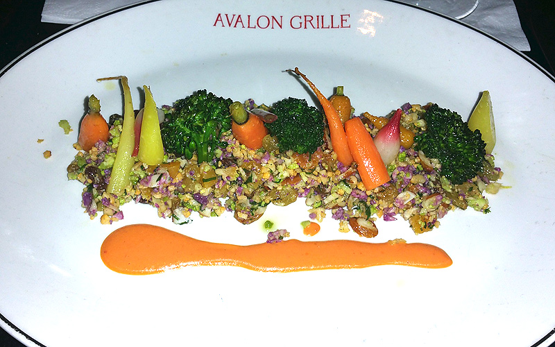Avalon Grille vegan creation - Photo by Mar Yvette