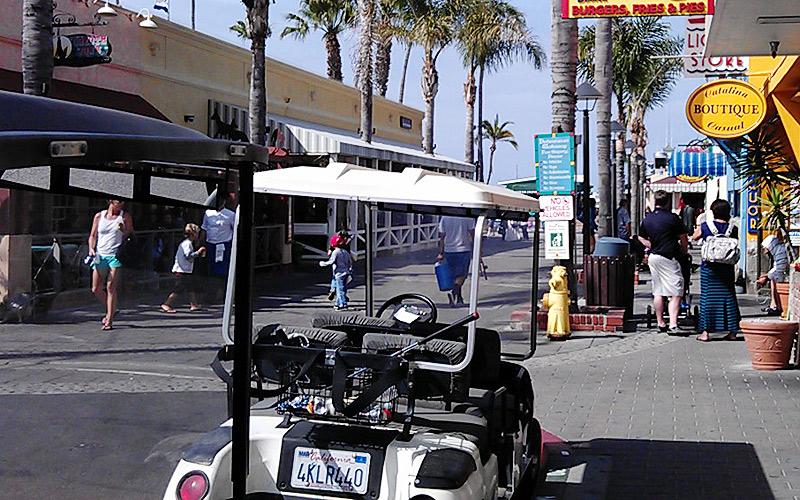 Get around Catalina Island on a golf cart