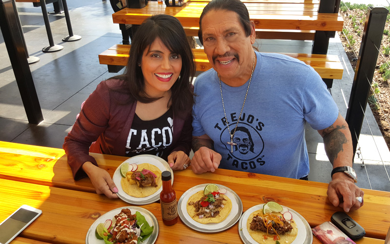 Mar Yvette & Danny Trejo at Trejo's Tacos in Los Angeles