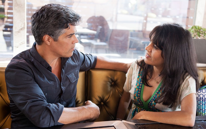 Mar Yvette discussing serious issues with Esai Morales