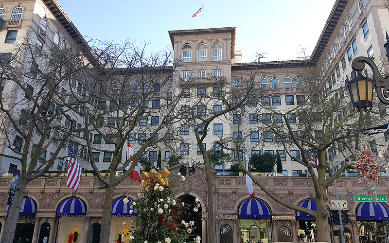The iconic Beverly Wilshire in Beverly Hills