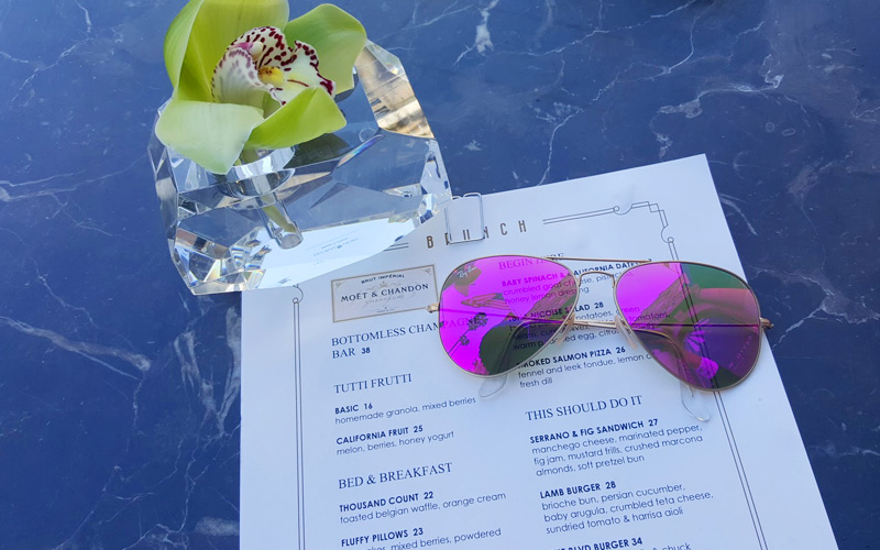 It's all about brunch at the Beverly Wilshire