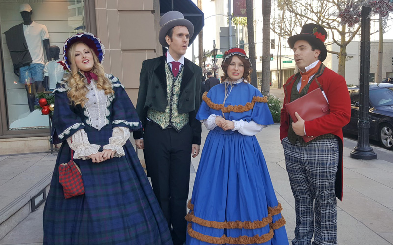 Christmas carolers in Beverly Hills are fun