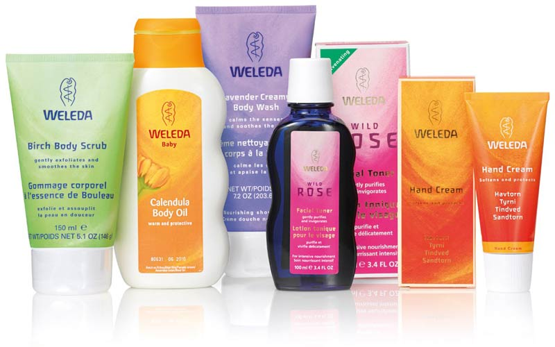 Weleda bath and body products