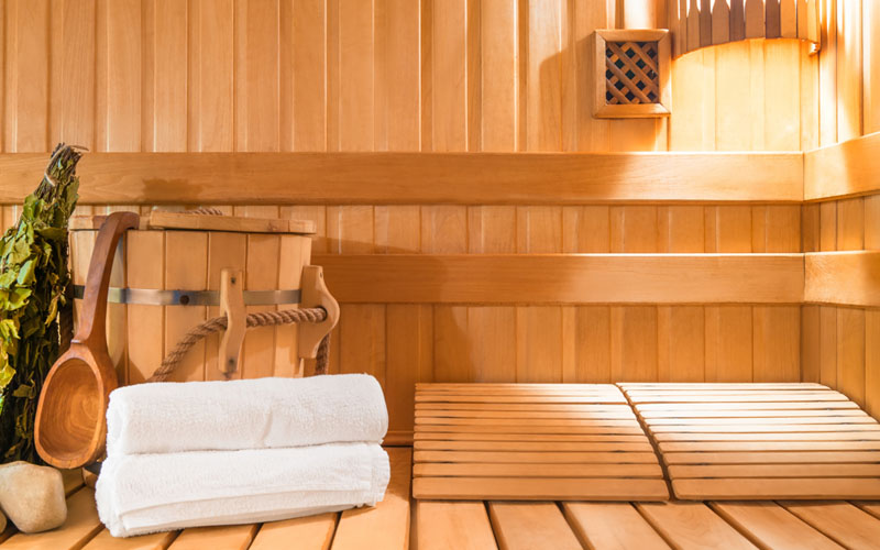 Infrared sauna helps detox and decompress