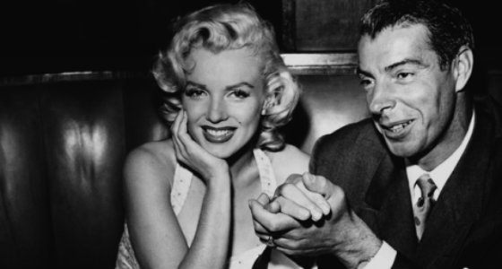 Marilyn Monroe and Joe DiMaggio at Chasen's