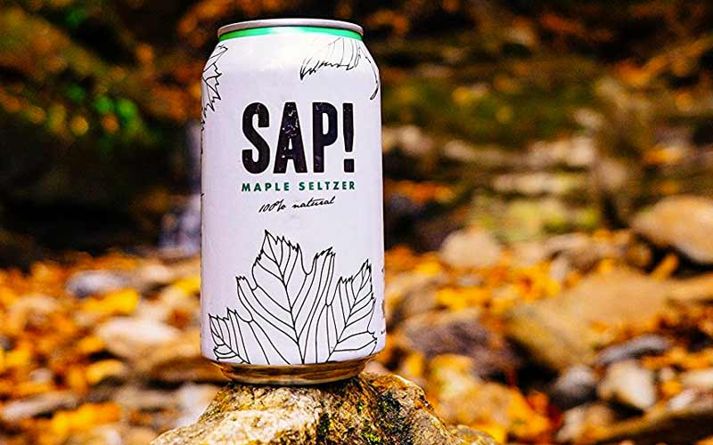 Maple Sap Seltzer - Best Vegan Maple Snacks