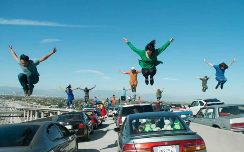 La La Land traffic scene