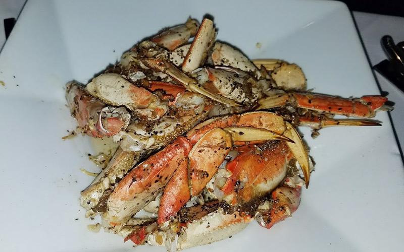 Crustacean Beverly Hills garlic roasted crab
