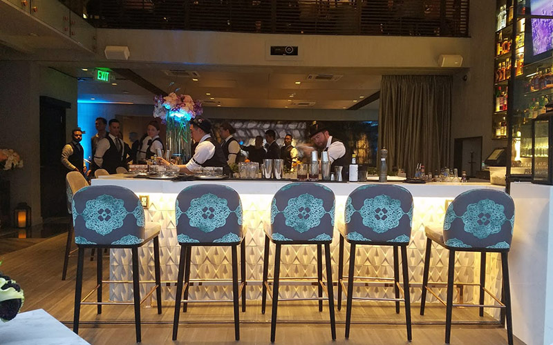 The gorgeous new bar at Crustacean Beverly Hills