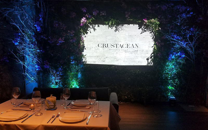 Crustacean Beverly Hills dining area