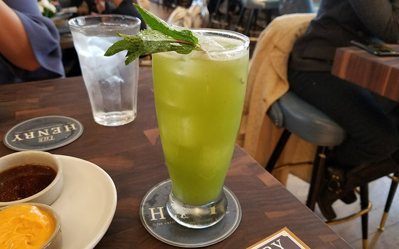 The Henry cucumber mint mocktail