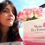 Mar Yvette at the Lancome global launch of Write Her Future
