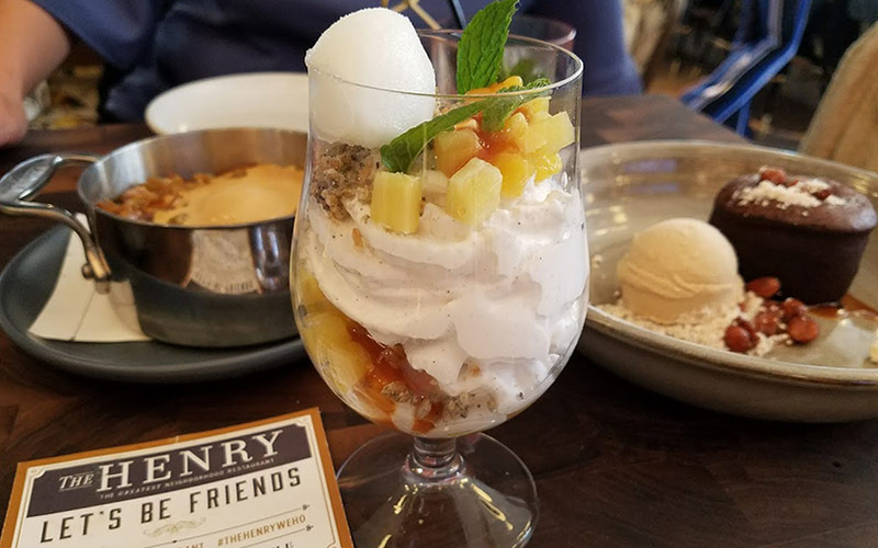 The Henry vegan pineapple trifle