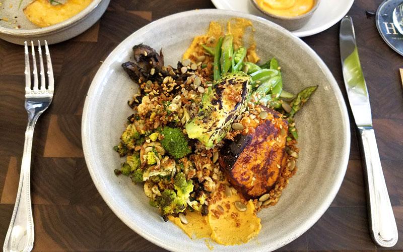 Vegan spring harvest bowl