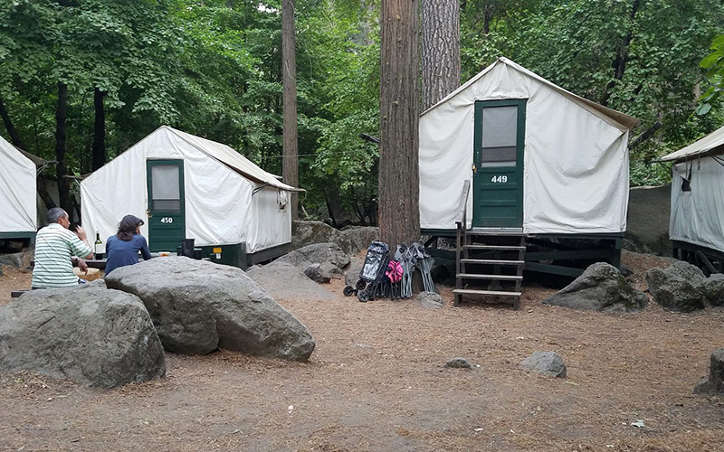 The canvas tents at Half Dome Village