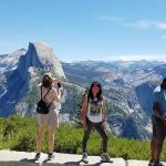A view of Half Dome in Yosemite